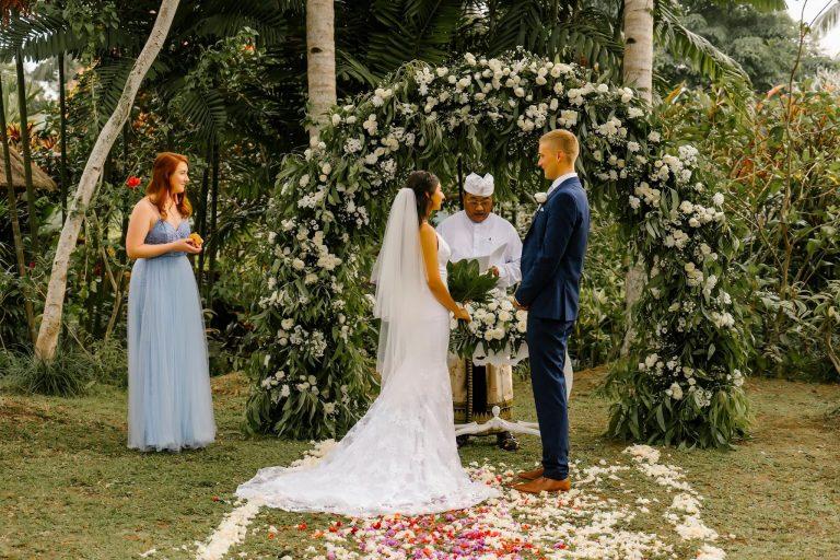 Bali Moon Wedding - Bali Elopement - Bali Garden Wedding