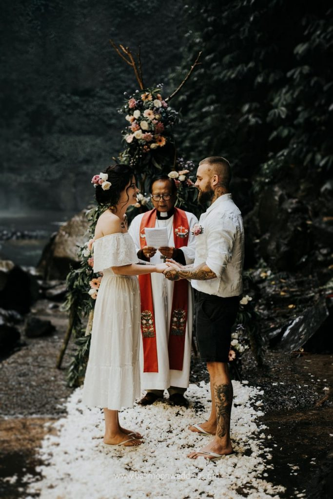 Bali Moon Wedding - Bali Waterfall Wedding - Bali Elopement