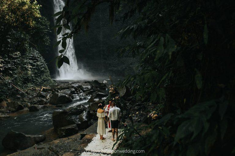 Bali Moon Wedding - Bali Waterfall Wedding - Bali Elopement - Bali Forest Wedding - Bali Waterfall