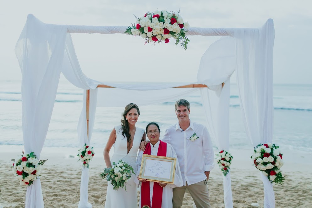 intimate bali beach wedding