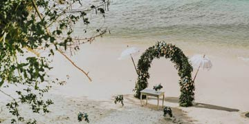 secluded beach wedding by Bali Moon Wedding