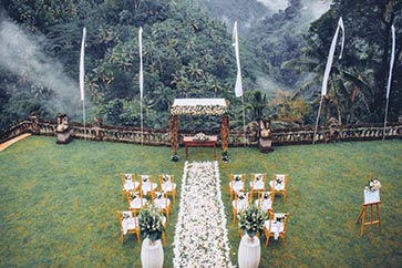Bali garden wedding with forest view by Bali Moon Wedding