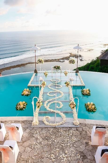 Karma Kandara Bali Water Wedding - Bali Moon Wedding